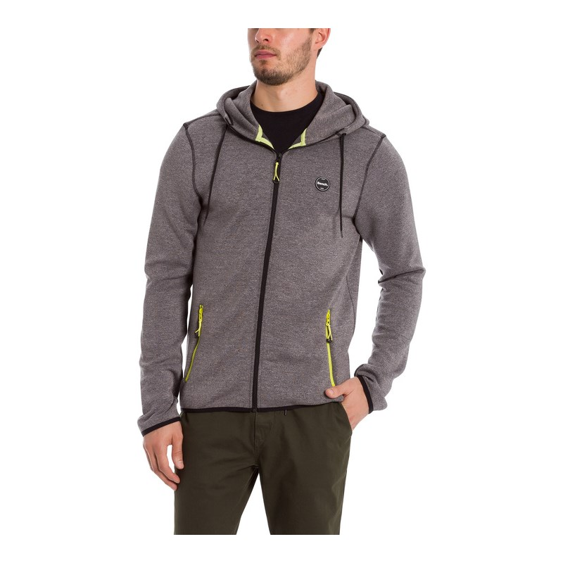mikina BENCH - Her. Double Zip Hoodie Winter Grey Marl (MA1054 ... 477998ff775