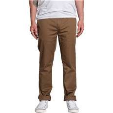 nohavice KREW - K Slim Chino Coffee (212)