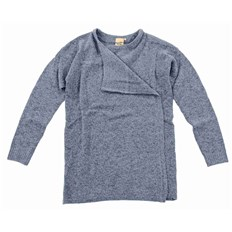 sveter ICHI - Knitted cardigan Dusty Blue (14018)