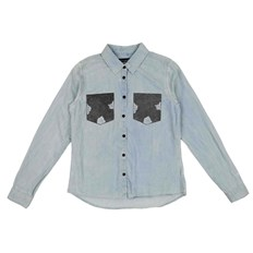 košela BLEND SHE - Adel Patch Shirt Bleached Lg. Blue (29029)