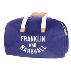 cestovná taška FRANKLIN & MARSHALL - Varsity weekender  - dark blue solid (25)