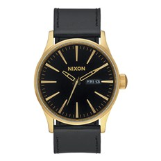hodinky NIXON - Sentry Leather Goldblack (513)