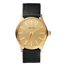 hodinky NIXON - Sentry 38 Leather Gold Black (513)