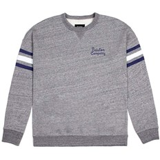 mikina BRIXTON - Barton Crew Fleece Heather Grey (HTGRY)