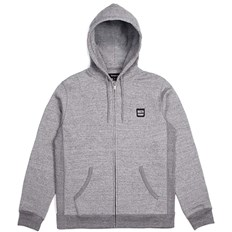 mikina BRIXTON - Bering Zip Hood Fleece Heather Grey (HTGRY)