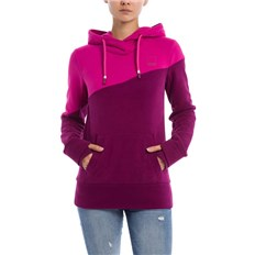 mikina BENCH - Her. Hoody Color Block Plum Caspia (PU11461)
