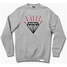mikina DIAMOND - Gem Crewneck Heather Grey (HTGR)