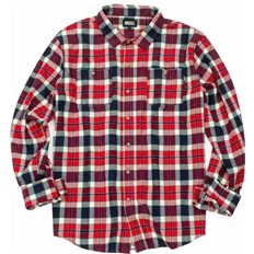 košela GRIZZLY - Outfield Ls Woven Red (RED)