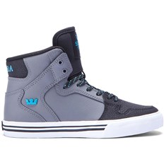 topánky SUPRA - Kids Vaider Charcoal/Black/Turquoise-White (CCB)
