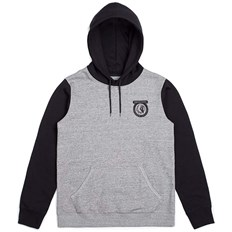 mikina BRIXTON - Native Hood Fleece Heather Grey/Black (HTGBK)