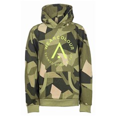 mikina CLWR - Patch Hood Asymmetric Olive (510)