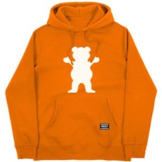 mikina GRIZZLY - Og Bear Youth Hoodie Safety Orange/White (SOWH)