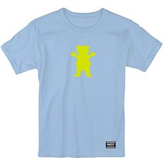 tričko GRIZZLY - Og Bear S/S Baby Blue/Neon Yellow (BBNY)