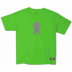 tričko GRIZZLY - Youth Safety Bear S/S Tee Neon Green (NEGN)