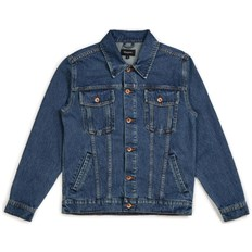bunda BRIXTON - Cable Denim Jkt Worn Indigo (WNIDG)