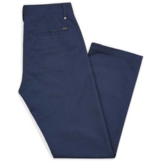 nohavice BRIXTON - Labor Chino Pant Washed Navy (WANAV)